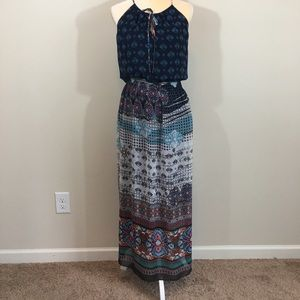 Boho maxi dress size Small